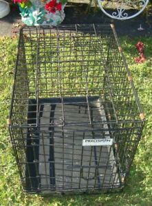 Black Wire Pet Cage With Tray Two Door