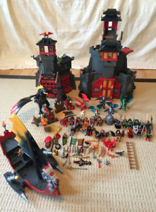 Playmobil Castle with Ship and Large Dragon