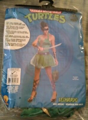 Teenage Mutant Ninja Turtles Leonardo adult teen Halloween costume with purse