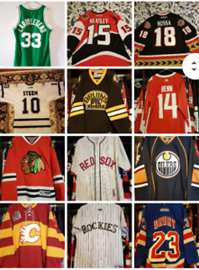 NHL, NBA, MLB jerseys