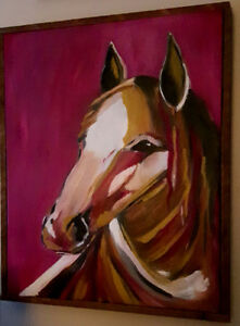 Original colors Horse abstract style oil painting