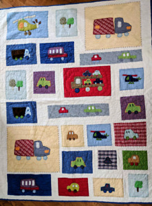Pottery Barn Kid's Transportation-Theme Quilt