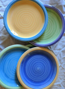 Set of Hand Painted Plates (8)