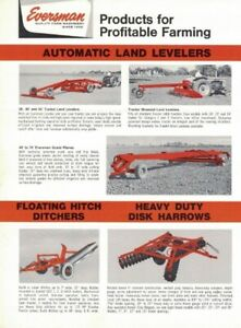 1965, EVERSMAN MFG. COMPANY, AUTOMATIC LAND LEVELERS, 2 PAGES