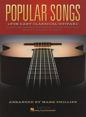 Popular Songs for Easy Classical Guitar TAB Music Book