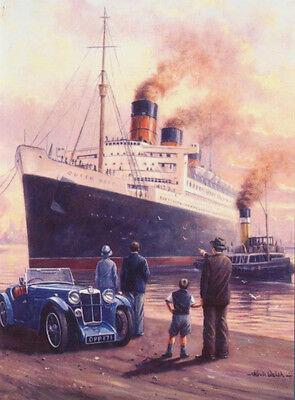 RMS Queen Mary Passenger Ocean Liner Cruise ship Nostalgic Birthday Card