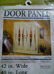 Set of 4 White PATIO DOOR PANEL CURTAINS