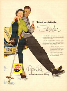 1956 large (10 ¼ x 14) color magazine ad for Pepsi