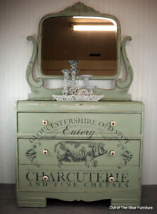Handsome farmhouse buffet/sideboard/server with mirror