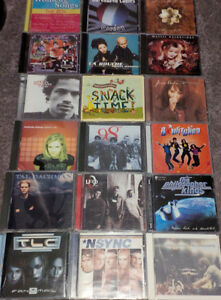 Various CDs and DVDs for sale
