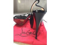 Christian Louboutin sling back high heels size 39 (U.K. 6) excellent condition worn twice