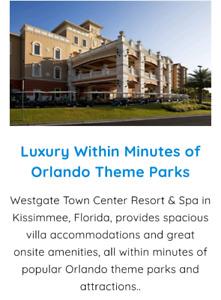 Two bedroom Kissimmee Florida timeshare rental or purchase
