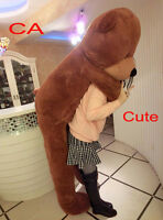 78'' Giant Dark Brown Teddy Bear 212014