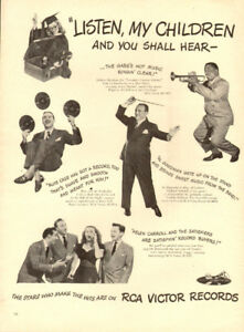 1947 full-page magazine ad for RCA Victor Records