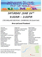 Over 40 Vendors attending this Saturday!