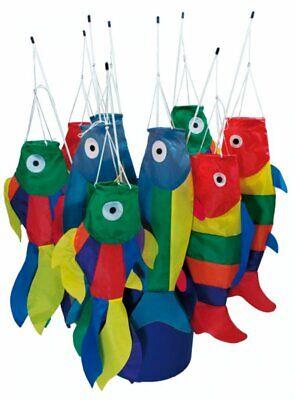 Windspiel Stockfisch Mobile Fisch Windsack bunte Fische am Stock Fisch Mobile