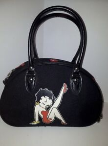RARE DONY CORP BETTY BOOP CANVAS SATCHEL PURSE BAG