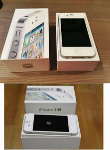 iPhone 4s 4 S white cellphone smartphone APPLE i phone unlocked