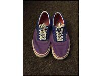 Blue and purple Vans. Size 7