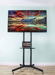 VIVO TV Cart for LCD LED Plasma Flat Panel Stand w/Wheels Mobile