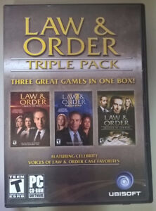 Law & Order Triple Pack PC Computer Software Video  - PC Ubisoft