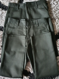 Two pairs of black school trousers