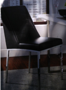 Black and Chrome Dining Chair New in Box