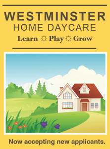 Registered ECE Home Day Care (South-End Guelph)