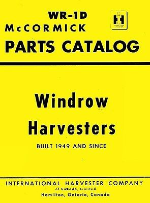 International MCCormick 14-M 14M Corn Picker 1 Row Mounted Parts Catalog Manual for sale  Sparta