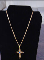 gold cross and chain