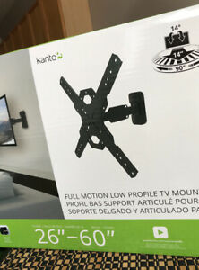 New in box, Tv bracket, full motion, low profile