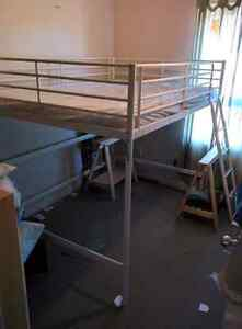 IKEA Youth Sized Raised Metal Bed Frame