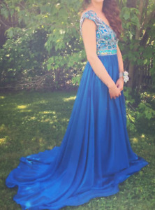 Peacock Blue size 2 prom dress! 100$!!