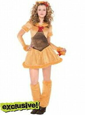 Teen Junior Cowardly Lioness Halloween Wizard of Oz Costume size 11-13 NIP