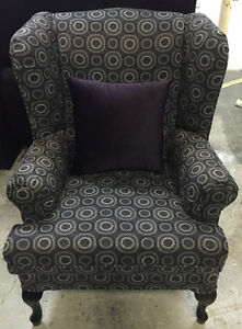 Order New Regular or Custom Made Wing Chair Made In Canada
