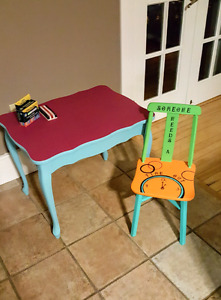 CHALK BOARD TABLE/TIME OUT CHAIR