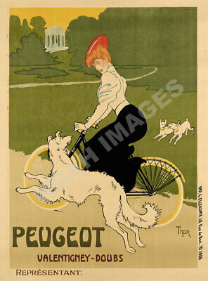 Peugeot vintage bicycle ad poster 18x24
