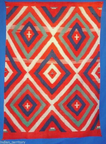 "Very RARE 3-PLY 72"" x 52"" Navajo Germantown Shoulder Blanket c.1864-1875"