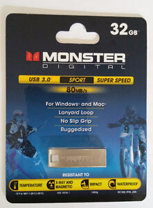Monster Digital 32GB Super Speed Sport 80 USB 3.0 Flash Drive