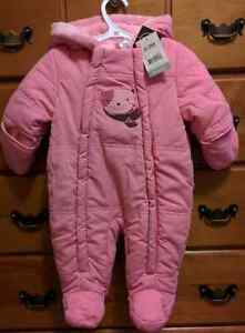 Pink Snowsuit (0-3 months) *NEW with tags*