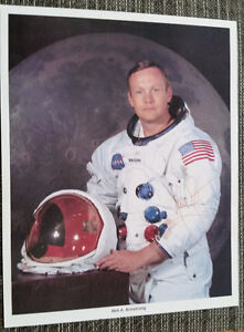 Neil Armstrong Autosigned Live Ink Nasa Photo