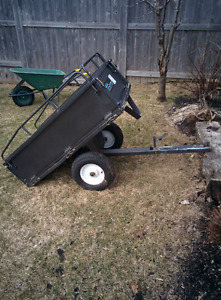 Utility dump trailer for garden tractor/ATV