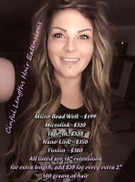 Hair Extension Services. Get your hair done the same day!