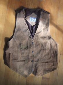 Unisex Beige Leather Vest West Island Greater Montréal image 1