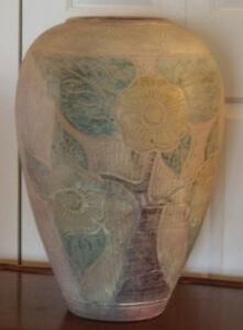 Très beau gros vase en terre cuite