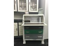 Vintage writing bureau in shabby chic free delivery in Glasgow