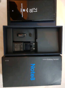 SAMSUNG GALAXY NOTE 8 BLACK WITH 4 Month Warranty left
