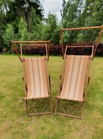 Vintage steamer deck chairs 2