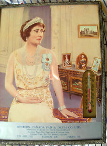 queen mother 1920 thermometer advertising