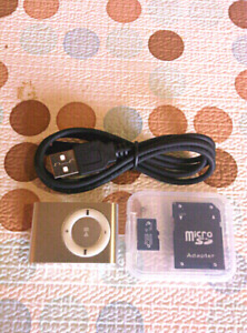 POCKET or CLAMP ON MP3 PLAYER, 16 GB Micro SD Card, Brand New